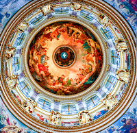 Interior of the great dome, honoring the Holy Spirit at Saint Isaac's Cathedral in St. Petersburg' Russia